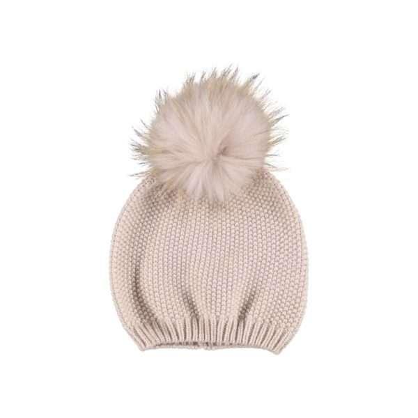 Stella Rosa Fur Beanie Pom Pom Hat