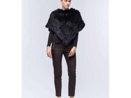 Molly Deluxe Rabbit Fur Poncho