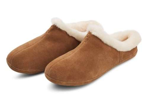 Cozy Slippers Suede Lamb