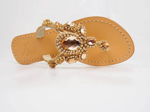 Pasha Glaros Leather Sandals