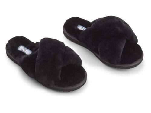 Slippers Cross Black