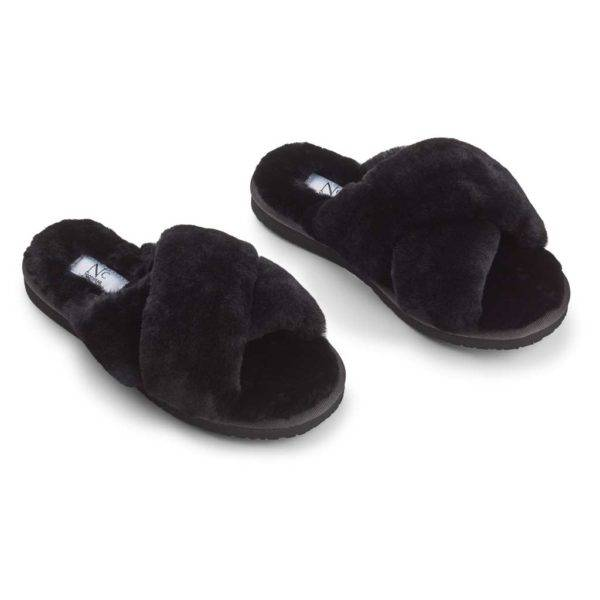 Slippers Cross Black